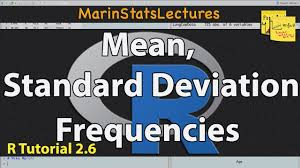 calculate standard deviation frequencies