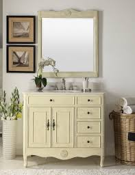 distressed cream daleville bathroom vanity w mirror hf 837wp bs mir