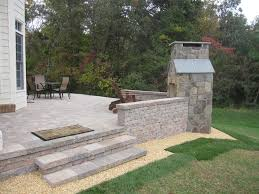 belgard fire pit belgard dublin cobble paver patio with celtik wall and stone