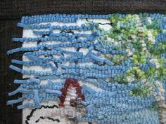 Rug Hooking With Yarn How To Whip A Hand Hooked Rug Tutorial Includes A Trick For Nice