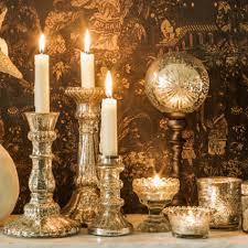 Mercury Glass Home Decor Mercury Antiqued Glass Candle Holders Candles U0026 Holders Graham