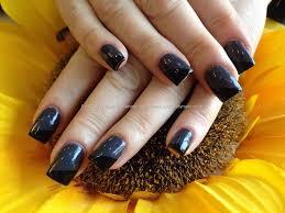 acrylic nails gel polish with gray nails nails art