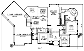Angled House Plans English Country Style House Plans Plan 7 692