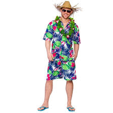 funky leaf hawaiian party guy costume haw 1302 just 14 99 from