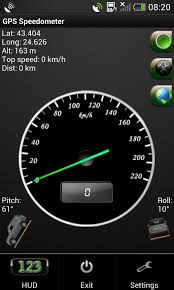 speedometer app android gps speedometer in kmh and mph free android app android freeware