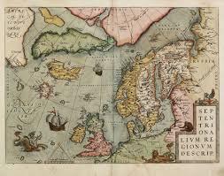 North Pole Map Septentrionalium Regionum Descrip Ortelius Scandinavia North