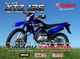 4 stroke motocross bikes all new xtz125 farm bike has arrived timaru yamaha