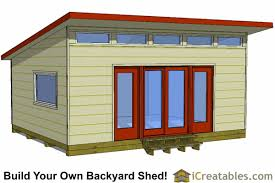 Diy Garden Shed Plans by 16x20 Modern Studio Shed Plans Modern Shed Pinterest Studio