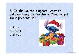christmas quiz ppt worksheet free esl projectable worksheets