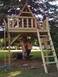 dazzling design tree houses for kids featuring natural brown