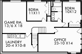 walkout basement house plan great room angled garage