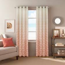 buy seascape grommet top 84 inch window curtain panel in coral bed