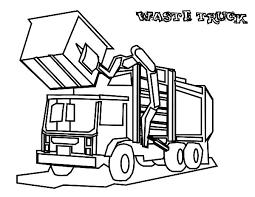 garbage waste truck coloring pages download u0026 print