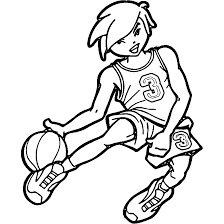 basketball player coloring pages playing basketball coloring pages