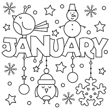 january coloring pages for kindergarten january coloring pages for toddlers new new year january coloring