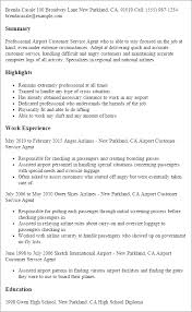 Resume Examples Customer Service Resume by Professional Airport Customer Service Agent Templates To Showcase