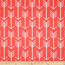 coral color premier prints arrow coral discount designer fabric fabric com