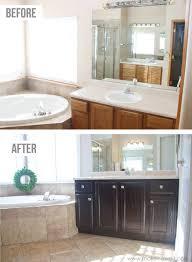 bathroom cabinets stain oak cabinets refinishing bathroom