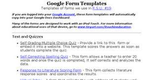 google form templates for education google docs