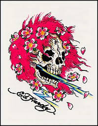 ed hardy pink hair skull pink hair and