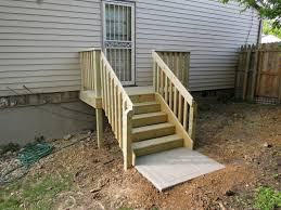 Back Porch Stairs Design New Deck Stairs With Landing How To Build Deck Stairs With