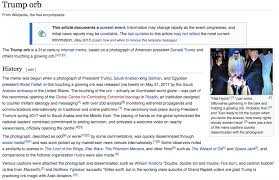 Wikipedia Meme - someone already made a wikipedia page for trump orb