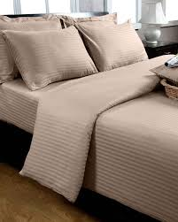 cotton vs linen sheets stunning taupe beige egyptian cotton satin stripe flat sheet th