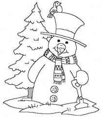 snowman christmas tree christmas coloring christmas