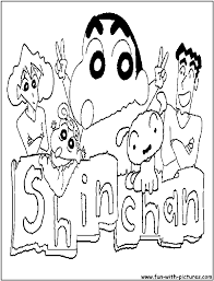 cartoons coloring pages shin chan coloring pages