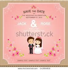 cardboard wedding invitation thank you stock vector 143872144
