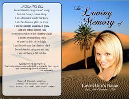 funeral cards desert single fold memorial program funeral cards funeral and