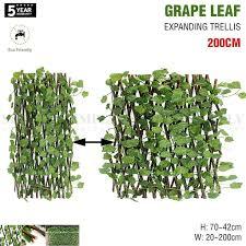 expanding trellis artificial plant garden green wall leaf ivy wood fen