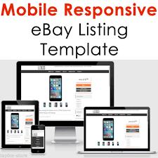 responsive design template custom ebay listing template auction html professional mobile