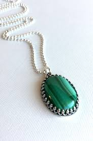 green stone necklace pendant images Green malachite necklace natural stone jewelry oval gemstone jpg