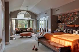 Bedroom Bay Window Furniture Oversized Bedroom Furniture Bedroom Transitional With Accent Wall