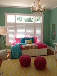 green paint color and special day bed for small bedroom ideas with