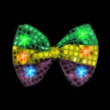light up bow tie lightup mardigras flashing sequin bow tie with multicolor leds gif