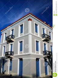 neoclassical house nauplio greece royalty free stock