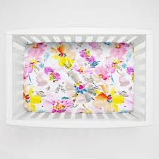 Rocking Mini Crib by Watercolor Floral Mini Crib Sheet Carousel Designs