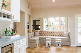 furniture grey upholstery kitchen banquette seating ideas with