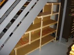 under stairs shelving top under stairs closet organization image of the most walk in and