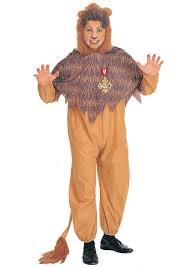 wizard of oz cowardly lion costumes halloweencostumes com