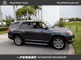 toyota forerunner 2013 used toyota 4runner 4wd 4dr v6 limited at royal palm toyota