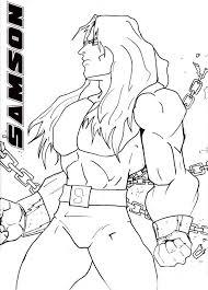 samson long hair coloring page contegri com