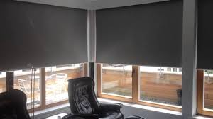 motorised blinds with blackout fabric fitted behind pelmets youtube