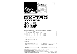 pioneer rx 550 service manual immediate download