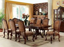 cherry dining room set furniture of america cm3103t cm3103ac cm3103sc cromwell 9 pieces