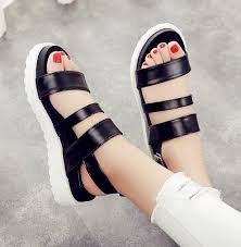 Stylish And Comfortable Shoes Casual Stylish Leather Platform Sandals Summer Shoes White Black
