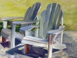 How To Paint An Adirondack Chair Plein Air Paintings By Shelley Grund