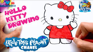 little toys planet hello kitty cartoon drawing drawing for